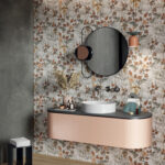 Wide and style mini berries wallpaper tiles bathroom