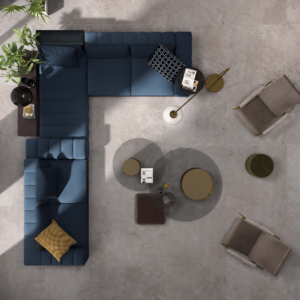 alpes grey living room