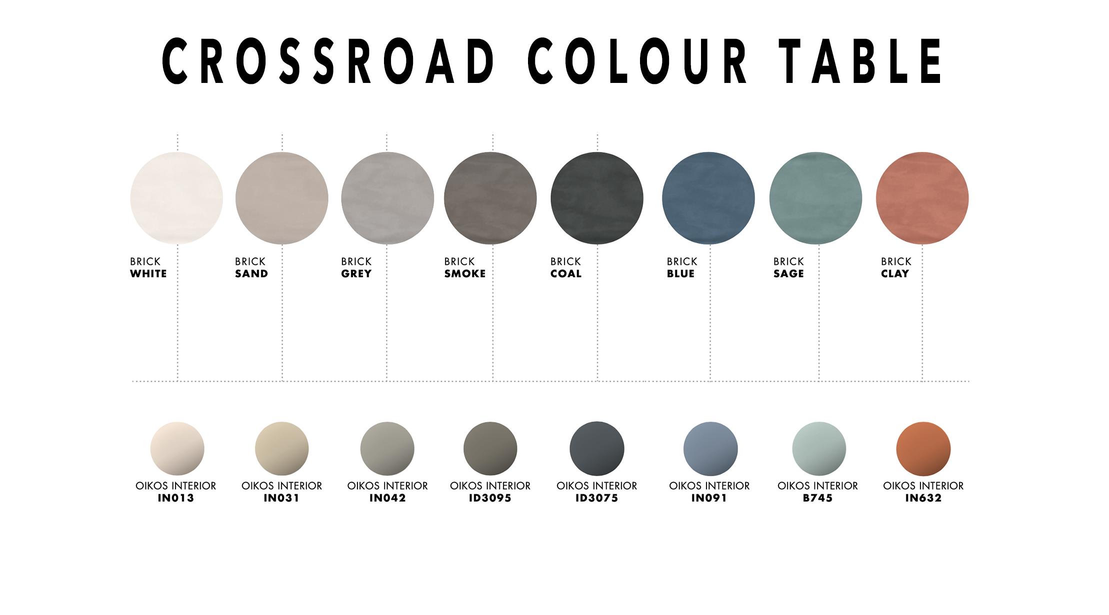 Crossroad Brick Colour Table