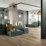 Nordik Wood wood effect Gold porcelain tiles flooring