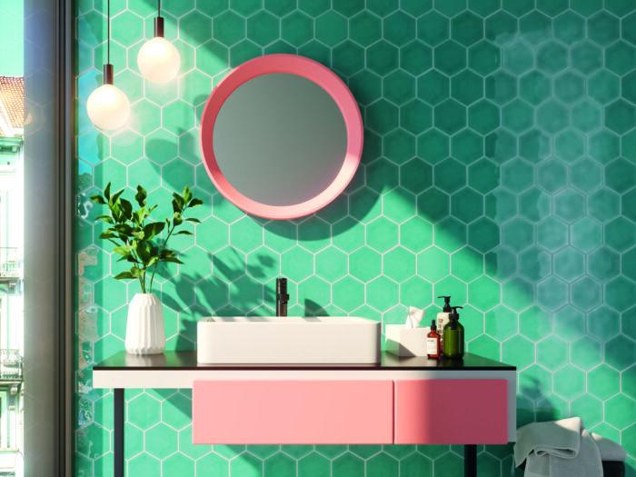 Memories Acqua ceramic tile