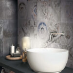 play re used mix grey porcelain patterns bathroom wall tiles