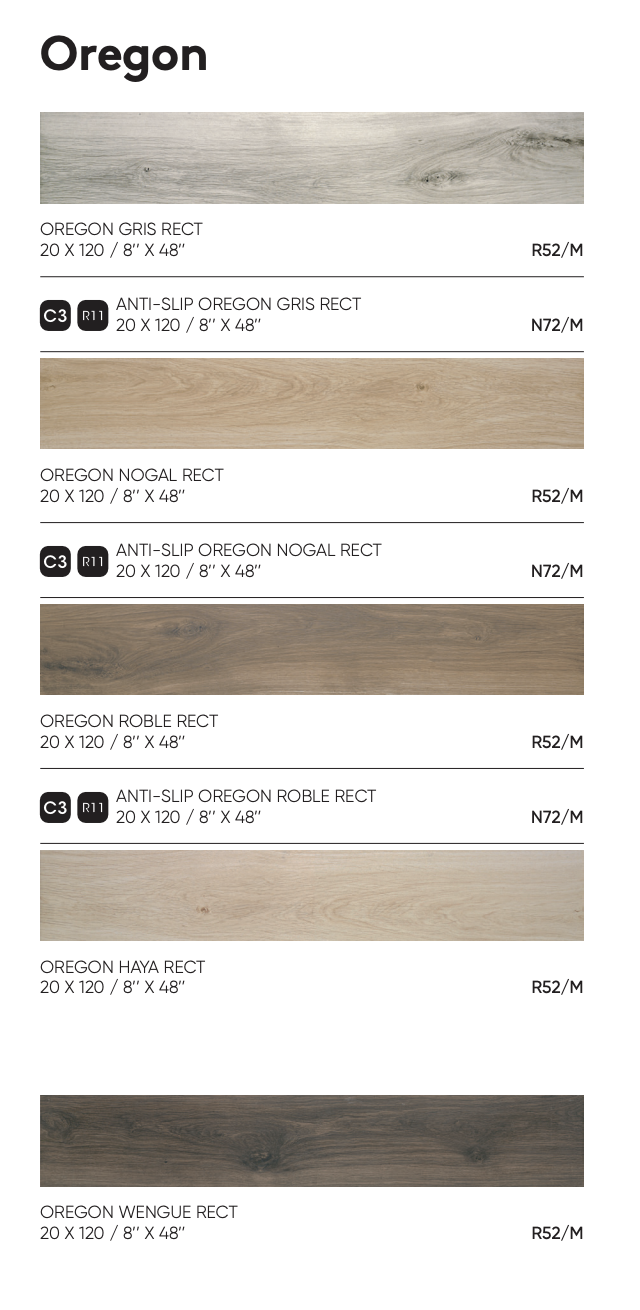 wood effect tiles oregon dimensions