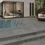 Outdoor porcelain work Coal swimming pool