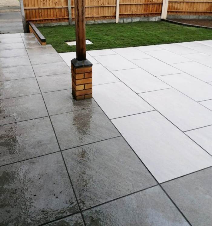 cleaning patio porcelain pavers