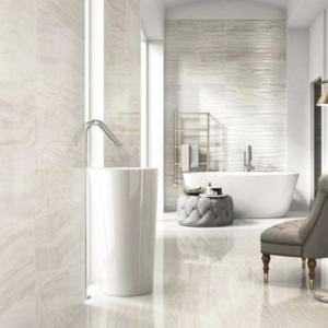 Panaria, onyx light, marble bathroom, light marble