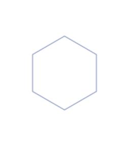 memories kisses hexagon shape